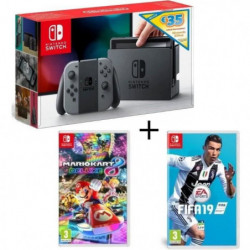 Pack Nintendo Switch Grise Edition Limitée + Fifa 19 +  …