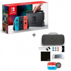 Pack Nintendo Switch Néon + Pack d'accessoires Steelplay 11 en 1