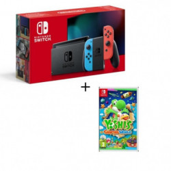 Pack Nintendo Switch Néon + Yoshi's : Crafted World