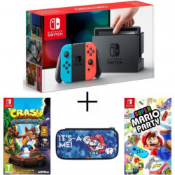Pack Nintendo Switch Néon + Crash Bandicoot N. Sane Trilogy