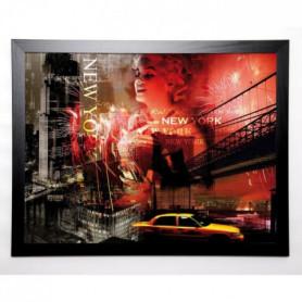 BRAUN STUDIO Image encadrée New York Fireworks 67x87 cm