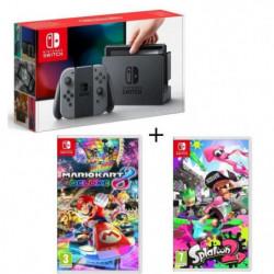 Console Nintendo Switch avec paire de Joy-Con gris + Splatoon 2