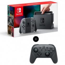 Console Nintendo Switch avec paire de Joy-Con gris + Manette