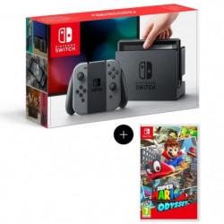 Console Nintendo Switch avec paire de Joy-Con gris + Super Mario