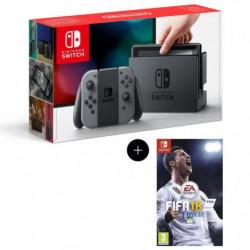 Console Nintendo Switch avec paire de Joy-Con gris + FIFA 18