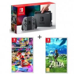 Console Nintendo Switch avec paire de joy-con Gris + Mario Kart 8