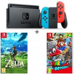 Console Nintendo Switch avec paire de joy-con bleu néon / ro