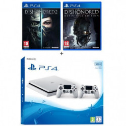 Nouvelle PS4 Slim Glacier White 500 Go + 2e Manette Glacier