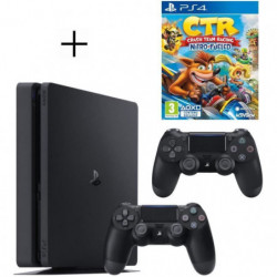 Pack PS4 500 Go noire + 2eme manette DualShock 4 Noire + …