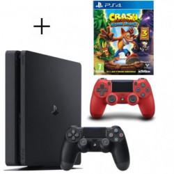 Pack PS4 500 Go noire + 2eme manette rouge offerte + Crash  …