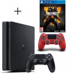 Pack PS4 500 Go Noire + Manette PS4 DualShock 4 Rouge V2 + …