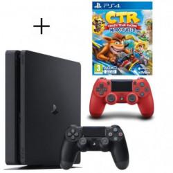 Pack PS4 500 Go noire + 2eme manette rouge offerte + …