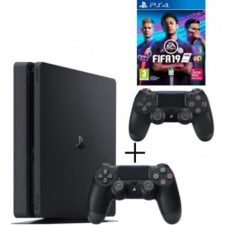 Pack Playstation : PS4 500 Go Noire + Manette Dual Shock 4