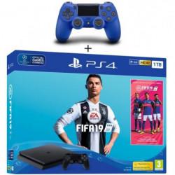 Pack PS4 1 To Noire + FIFA 19 + 2eme Manette Dualshock 4