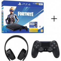 Pack Fortnite : PS4 500Go avec Voucher Fortnite + Casque PS4