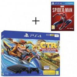 Pack PS4 1 To Noire + Crash Team Racing + 2eme manette
