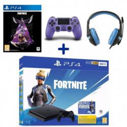 PS4 500 Go Noire + Manette DualShock V2 Electric Purple + …