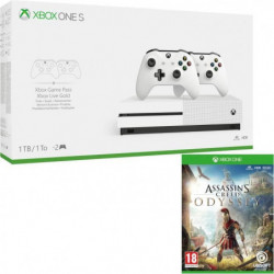 Xbox One S 1 To + 2 manettes + Assassin's Creed Odyssey