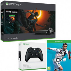 Xbox One X 1 To Shadow of The tomb Raider + Fifa 19 + …