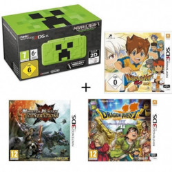 New 2DS XL Minecraft Creeper Edition + Monster Hunter Generations