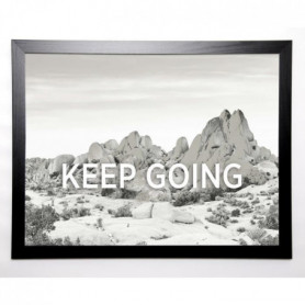 BRAUN STUDIO Image encadrée Keep Going 67x87 cm