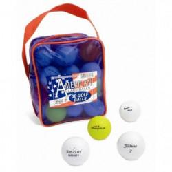 SECOND CHANCE Lot de 30 Balles et Tees de Golf en pochette