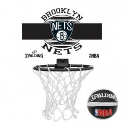 SPALDING Nba Brooklyn Nets Blanc Panier Intérieur Basketball