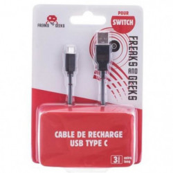 Cable de charge FREAKS AND GEEKS Type-C 3m pour Smartphone