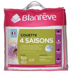 BLANREVE Couette 4 saisons - 200 x 200 cm - Blanc