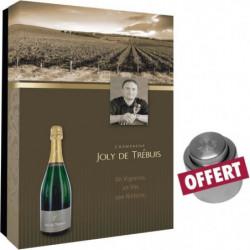 Coffret vide Joly de Trebuis pour 2 bouteilles et bouchon