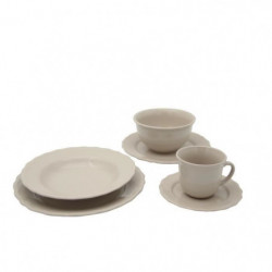 Service de table - 24 pieces - Collection Patrimo - beige