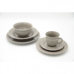 Service de table - 24 pieces - Collection Patrimo - Gris