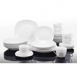 T1003048-60X - Service de table 60 pieces - Porcelaine - Forme