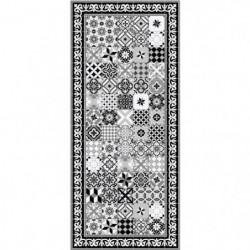 FARO Tapis 100% vinyle - Motif carreaux de ciment - 49,5 x 112,5