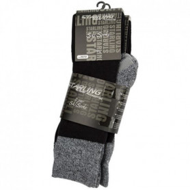 STARLING Lot de 2 Chaussettes de randonnée Hiver - Mixte - Noir
