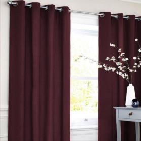 Rideau coton LOOK - Rouge bourgogne - 140x250 cm