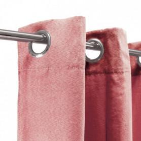 Rideau sueden 100% Polyester - Terra cotta - 140x250 cm
