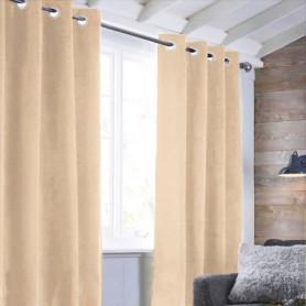 Rideau sueden 100% Polyester - Rose nude - 140x250 cm
