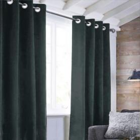 Rideau sueden 100% Polyester - Gris carbone - 140x250 cm