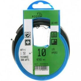 PROFIPLAST Couronne de câble 10 m HO7V-U 1,5 mm2 Noir