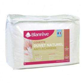 BLANREVE Couette Naturelle Duvet Percale de Coton - 220x240