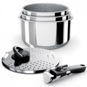BACKEN Set de Casseroles - Inox - 5 pieces - Tous