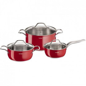 TEFAL INOX INTUITION COLORS Batterie de cuisine 6