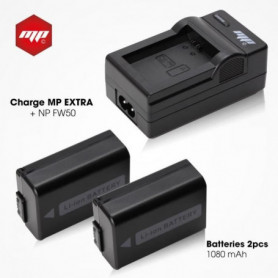 2 x batteries NP-FW50 , NPFW50 + chargeur