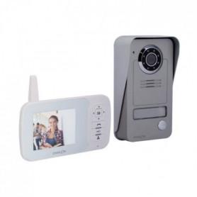 CHACON Vidéophone sans fil digital 2,4GHz avec écran LCD 3.5''