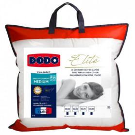 DODO Oreiller ELITE 100% Percale de Coton Confort Medium 60x60cm