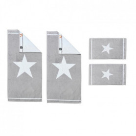 DONE Star 2 Serviettes invité + 2 Serviettes de toilette