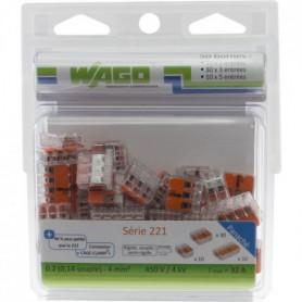 WAGO Pack de 50 Bornes de connexion universelle