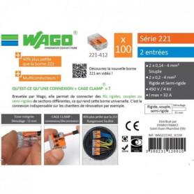 WAGO Seau 100 bornes - 221 - 2 entrées