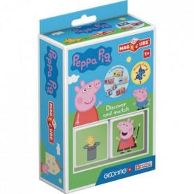MAGICUBE - Peppa Pig découvre avec Peppa (2 cubes)
